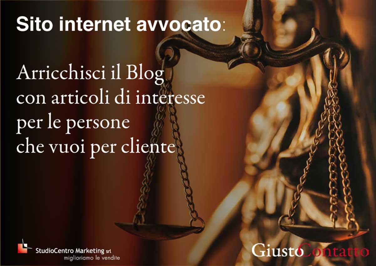 Arricchisci il Blog del tito del tuo studio legale con articoli di interesse per le persone che vuoi per cliente