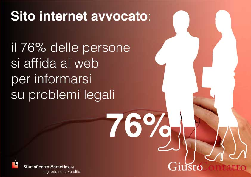 il 76% delle persone si affida al web per informarsi su problemi legali