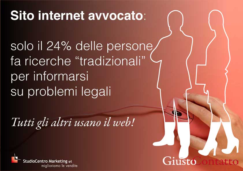 """solo il 24% delle persone fa ricerche """"tradizionali"""" per informarsi su problemi legali. Tutti gli altri usano il web!"""