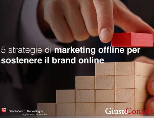 5 strategie di marketing offline per sostenere il brand online