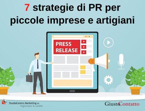 7 strategie di PR per piccole imprese e artigiani