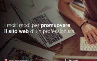 I molti modi per promuovere il sito web di un professionista