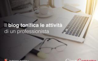 Il blog tonifica le attività di un professionista