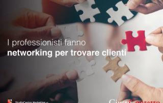 I professionisti fanno networking per trovare clienti