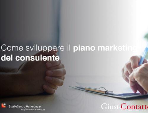 Come sviluppare il piano marketing del consulente