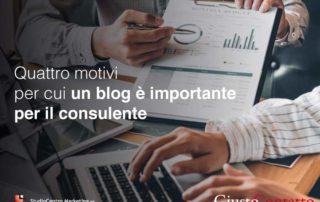 Quattro motivi per cui un blog è importante per il consulente
