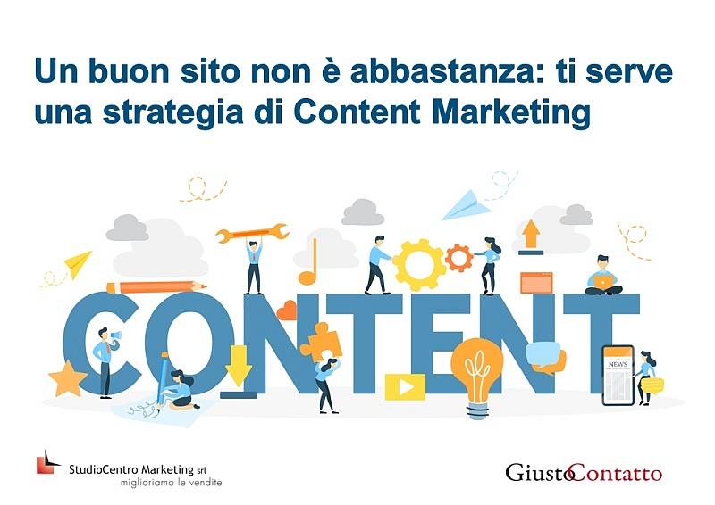 Un buon sito non è abbastanza ti serve una strategia di Content Marketing - 7
